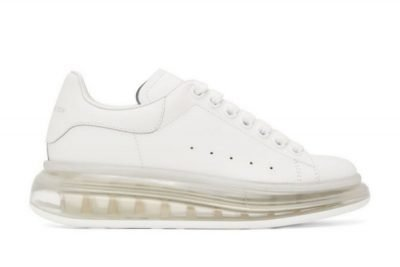 Mcqueen oversized white clear sole