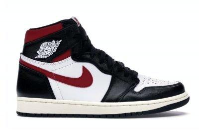 Jordan 1 black Gym red